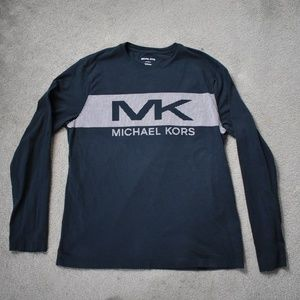 Michael Kors Logo Black Long Sleeve Large